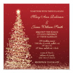 Elegant Christmas Wedding Red Card at Zazzle