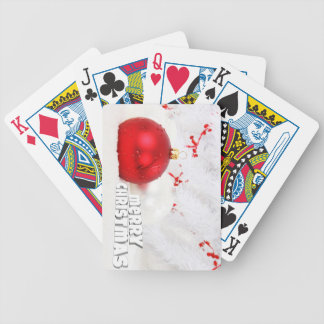 Elegant Christmas wishes Bicycle Playing Cards