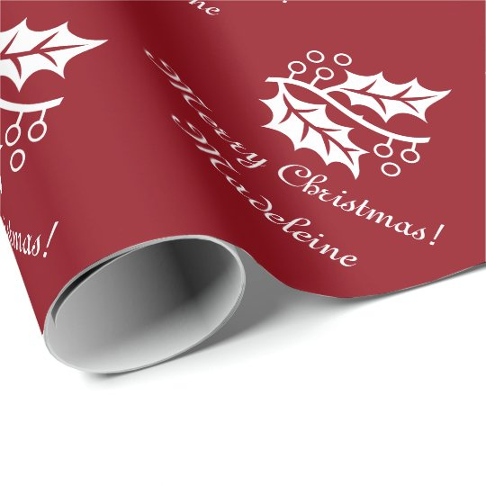 elegant christmas wrapping paper with holly leaves - Elegant Christmas Wrapping Paper