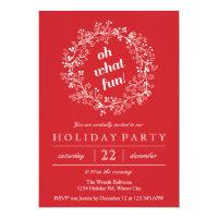Elegant Christmas Wreath Holiday Party Card