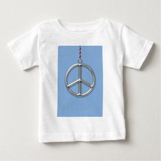 Elegant Chrome Peace Ornament T-shirt