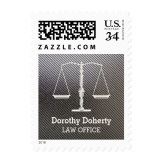 Elegant Chrome Scales of Justice - Postage