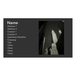 Elegant Chrysler Building Business Card Template