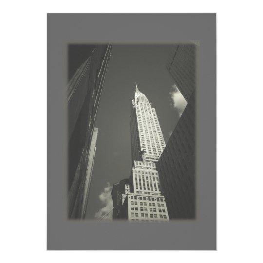 Elegant Chrysler Building Wedding Invite