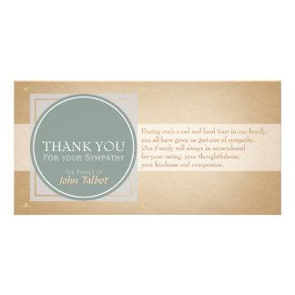 Elegant Circle Square Tags Sympathy Thank you P Card