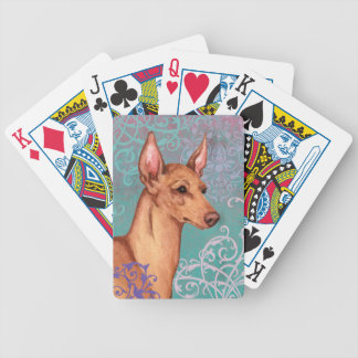 Elegant Cirneco dell'Etna Bicycle Playing Cards
