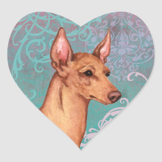 Elegant Cirneco dell'Etna Heart Sticker