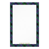 Elegant Clan Baird Tartan Plaid Stationery