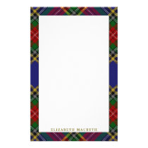 Elegant Clan MacBeth Tartan Plaid Stationery