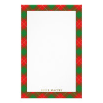 Elegant Clan MacFie Tartan Plaid Stationery