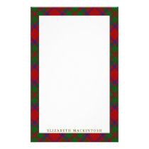 Elegant Clan MacKintosh Tartan Plaid Stationery