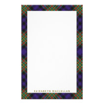 Elegant Clan MacLellan Tartan Plaid Stationery