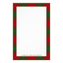 Elegant Clan MacQuarrie Tartan Plaid Stationery