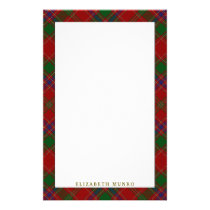 Elegant Clan Munro Tartan Plaid Stationery
