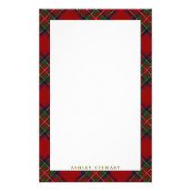 Elegant Clan Stewart Tartan Plaid Stationery