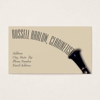 Elegant Clarinet Business Card