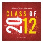"Elegant Class of 2012 Graduation Invitation 5.25"" Square Invitation Card"