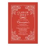 "Elegant Class of 2015 Graduation Party Invitation 5"" X 7"" Invitation Card"