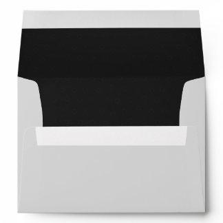 Elegant Classic Black Lined Envelope