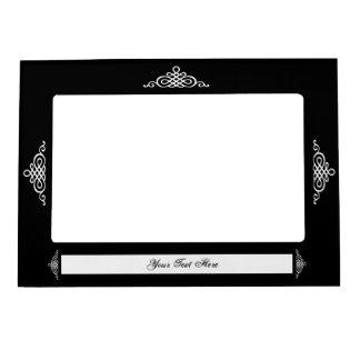 Elegant Classic Black Photo Frame Magnet