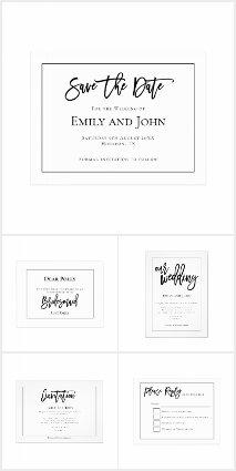 ELEGANT CLASSIC BLACK TYPOGRAPHY WEDDING
