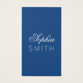 Elegant Classic Blue - Enter your name Business Card