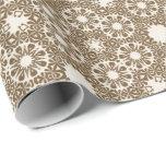 elegant, classic, chocolate, espresso pattern gift wrap