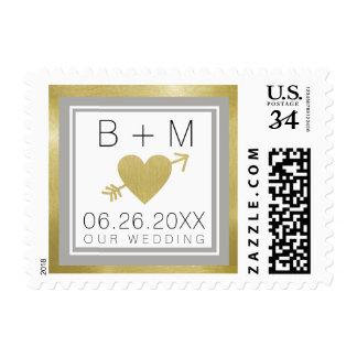 elegant classic love monogram, memorable weddings postage