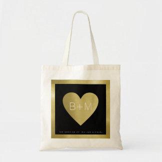 elegant classic monogram, weddings love tote bag