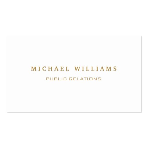 Elegant classic professional simple target business card for Target business cards