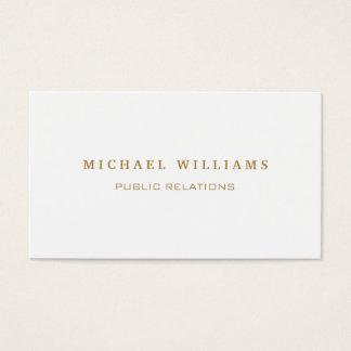 Elegant classic professional simple target business card
