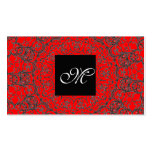 Elegant Classic Red Black and White Modern Bride Business Card