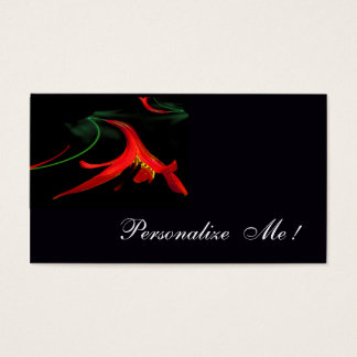 Elegant Classic Red Lily Unique / House-of-Grosch Business Card