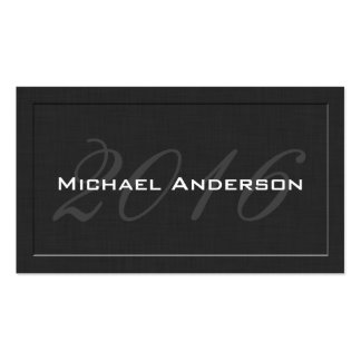 Elegant Classic Senior Class Graduation Name Card Double-Sided Standard Business Cards (Pack Of 100)
