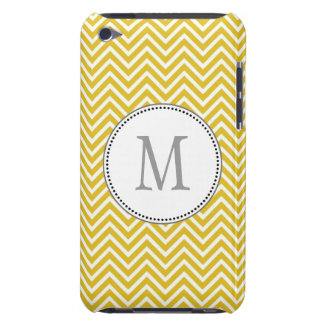 Elegant classic sunny yellow chevron zigzag barely there iPod covers