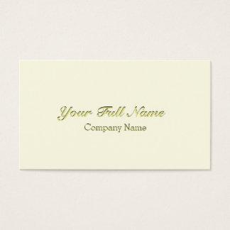 ELEGANT CLASSIC VINTAGE CREAM CREAM NUPTIAL BUSINESS CARD