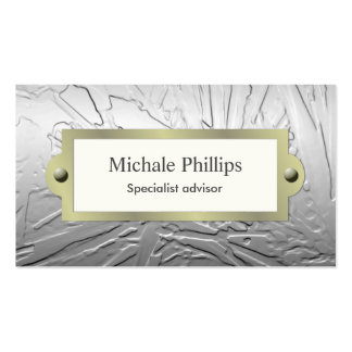 Elegant classic Vintage kitsch professional silver Business Card