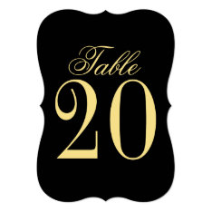 Elegant Classic Wedding Table Number at Zazzle