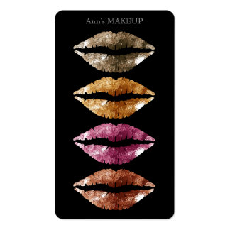 Elegant classy artistic lips look business card