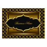 Elegant Classy Black Old Gold Business Card Template