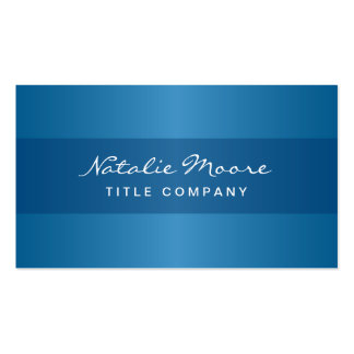 Elegant classy blue professional generic business card templates