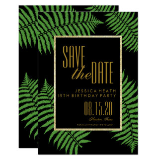 Elegant Classy Bracken 18th Birthday Save The Date Card