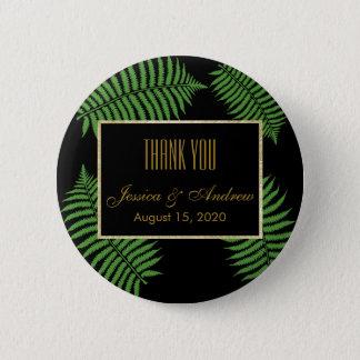 Elegant Classy Bracken Wedding Pinback Button