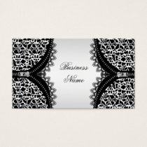 Elegant Classy Cow Animal Black White Zipper Business Card