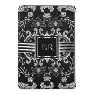 Elegant Classy Damask Brocade Metal Look iPad Mini Cover