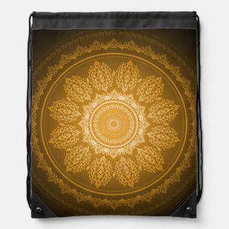 Elegant Classy Floral Swirl Pattern Gold Backpack
