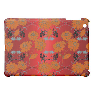 Elegant Classy Floral Tropic Red iPad Mini Covers
