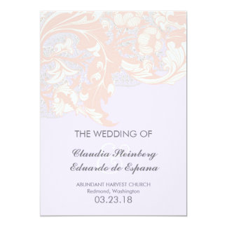 Elegant Classy Florals - Lavender, Pink, Blush 5x7 Paper Invitation Card
