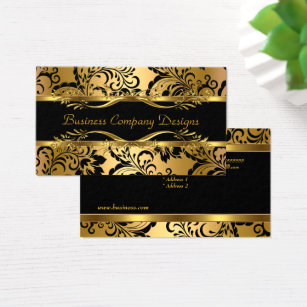 Gold embossed business cards gallery business card template gold embossed business cards templates zazzle elegant classy gold black damask embossed look business card colourmoves reheart Gallery