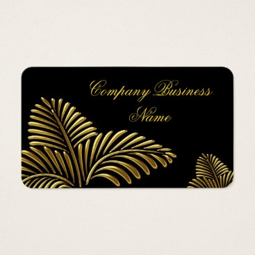 Professional Business Elegant Classy Gold Black Golden Palm Business Card